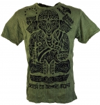 Sure T-Shirt Tribal Ganesha - olive