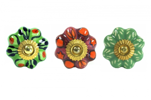 Rosette shaped furniture knobs