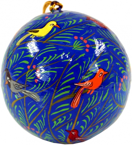 Upcyceling Christmas baubles made of papier-mâché, hand painted Christmas tree decorations, cashmere baubles - sample 24 - 7x7x7 cm Ø7 cm