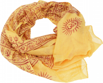 Thin Baba cloth, Benares Lunghi - yellow