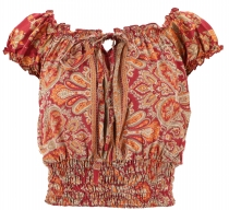 Blouse top Boho chic, hippie blouse - rust-red