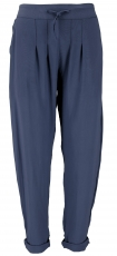 Narrow trousers, pencil trousers, summer trousers - navy blue