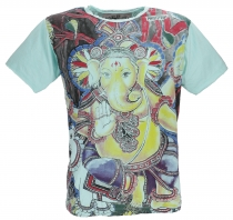 Mirror T-Shirt - Ganesh/mint