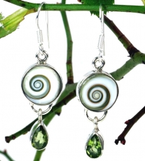 Indian Boho earring Shiva - Peridot