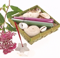 Incense Gift Set with Incense Holders - Lemongrass Rose