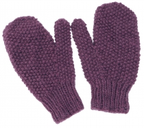 Hand knitted mittens, gloves, mittens, mittens, mittens - lilac