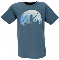 Fun T-Shirt `Fullmoon Party` - dove blue