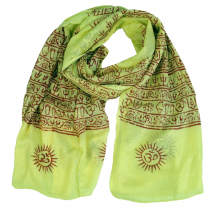 Thin Baba cloth, Benares Lunghi - lemon