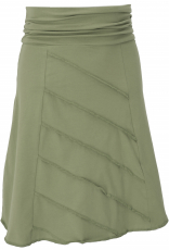 Mini skirt with overlook, A-line skirt in organic quality - light..