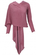 Convertible Vetch Cardigan - antique pink/Model 2
