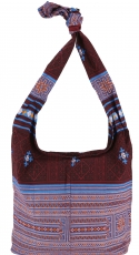 Sadhu Bag, shoulder bag, hippie bag - bordeaux red/blue
