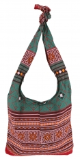 Sadhu bag, shoulder bag, hippie bag - stainless/green