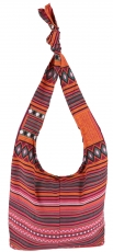 Sadhu Bag, shoulder bag, hippie bag - orange/pink