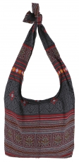 Sadhu Bag, shoulder bag, hippie bag - black/red