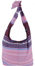 Sadhu Bag, shoulder bag, hippie bag - pink/blue