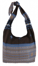 Sadhu Bag, shoulder bag, hippie bag - brown/blue