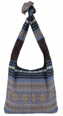 Sadhu Bag, Boho Shoulder Bag, Hippie Bag - blue/brown