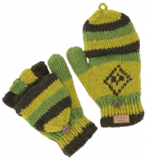 gloves, hinged gloves Nepal - green