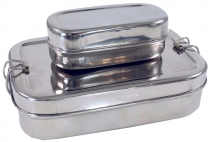 Sturdy stainless steel bread box, breakfast box, eco friendly met..