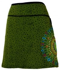 Mini skirt, Summer skirt, Hippie skirt, Goa skirt - green