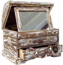 Mini dressing table, mirror box make-up mirror