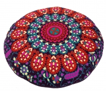 Flat Mandala Meditation Cushion, Yoga Cushion, Seat Cushion, Floo..