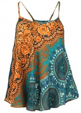 Boho top with straps, summer top, ladies top, beach top - rust-or..