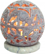 Indian scent potpourri soapstone container, tealight - ball eleph..