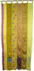 Curtain (1 pc.) curtain made of patchwork fabric, one of a kind -..