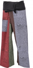 Thai fisherman pants made of strong cotton, patchwork wrap pants,..