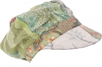 Patchwork Boho cap, balloon cap - green
