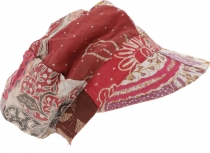 Patchwork Boho cap, balloon cap - red