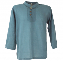 Yoga shirt, Goa shirt - dove blue