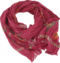 Indian cotton scarf, light boho scarf - wine red
