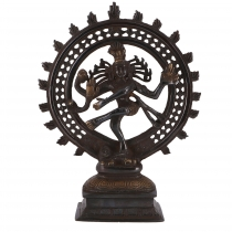 Brass figure, statue Shiva in fire wreath 29 cm - motive 8