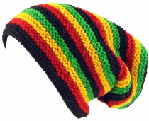 Beanie cap, striped knitted cap, Nepal cap - rasta