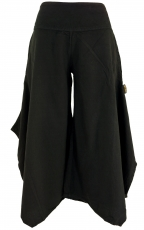 Comfortable palazzo trousers, Marlene trousers, culottes - black