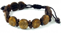 Buddhist bracelet Ashtamangala - brown model 4