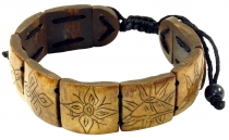 Buddhist bracelet Ashtamangala - brown model 3