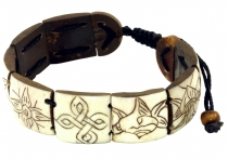 Buddhist bracelet Ashtamangala - white model 2