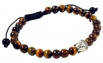 Mala, Buddha Bracelet, Handmala - Tiger Eye - Model 23