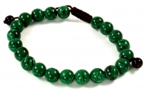 Mala Bracelet Malachite, Handmala - Model 20