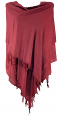 Light scarf, single-coloured cloth - light burgundy