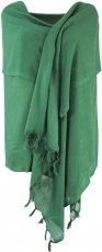 Light scarf, plain cloth - emerald green