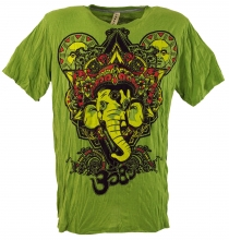 Baba T-Shirt Ganesha with third eye - green