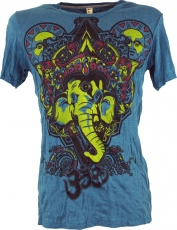 Baba T-Shirt Ganesha with third eye - petrol