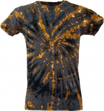Batik T-Shirt, Men Short Sleeve Tie Dye Shirt - grey