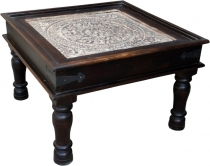 Coffee table, coffee table, floor table with glass top - Model 1