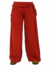 Comfortable palazzo trousers, Marlene trousers - cherry red
