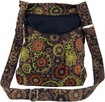 Embroidered Ethno Shoulder Bag - cappuccino
